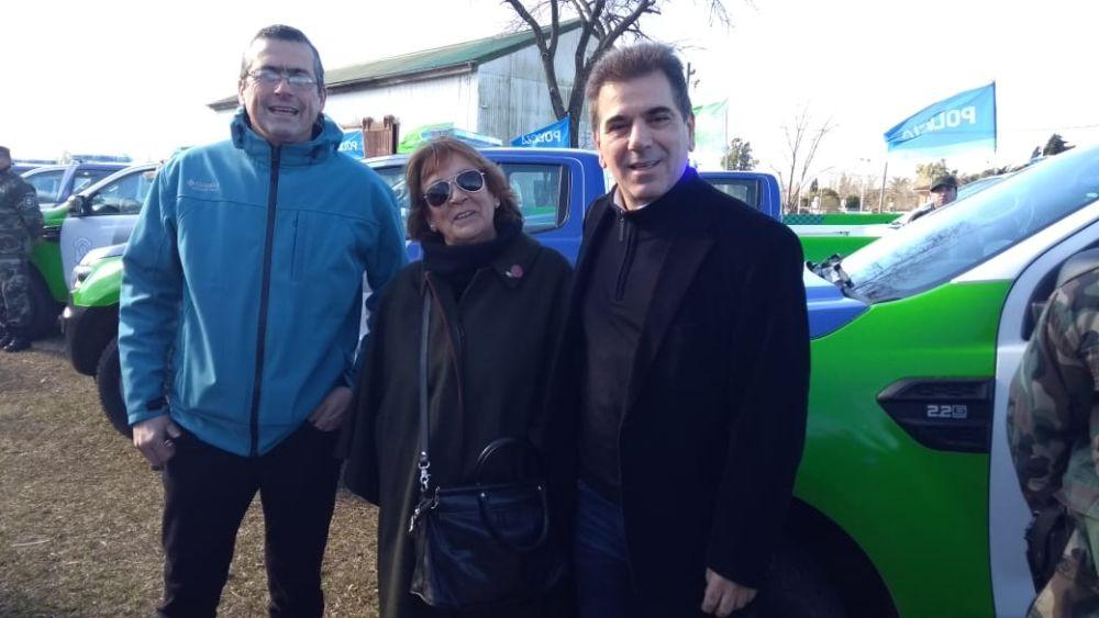 El Intendente Suescun junto al Ministro de Seguridad Ritondo y la Directora de Seguridad Delfina Passeggi